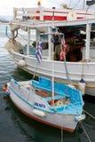 Kleiner Hafen in Aegina-Insel Stockfoto