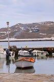 Kleiner Hafen auf Mykonos Stockbilder