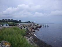 Kleiner Hafen, Insel in Dänemark Lizenzfreie Stockbilder