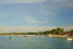 Kleiner Hafen von Siargao lizenzfreies stockfoto