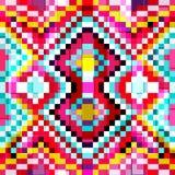 Kleiner heller farbiger nahtloser geometrischer Hintergrund der Polygone Stockbild