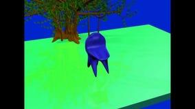 Kleiner hier Baum Morphin-Animation lizenzfreie abbildung