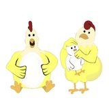 Kleiner Huhnparenting stock abbildung
