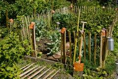Kleiner idyllischer Garten Stockfoto