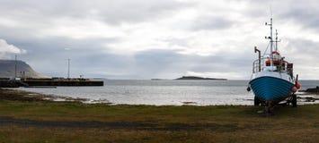 Kleiner isländischer Hafen Stockfotos