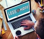 Kleiner ist minimalere Einfachheits-leistungsfähiges Komplexitäts-Konzept Lizenzfreies Stockfoto