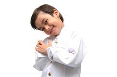 Kleiner Junge auf thailändischem Kostüm stockfotos