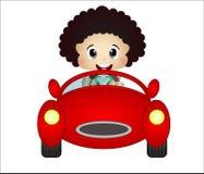 Kleiner Junge, der mit seinem Autospielzeug spielt Stockfotos