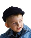 Kleiner Junge in einer Schutzkappe Stockbilder