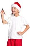 Kleiner Junge im Sankt-Hut Lizenzfreies Stockbild