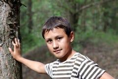 Kleiner Junge 10 Jahre alt Lizenzfreies Stockfoto