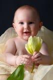 Kleiner Junge mit Blume Lizenzfreies Stockbild