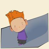 kleiner Junge mit dem roten Haar Lizenzfreie Stockbilder