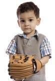 Kleiner Junge mit einem Baseball übersetzt lizenzfreie stockbilder