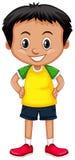 Kleiner Junge mit großem Lächeln Stockfotografie