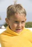 Kleiner Junge nach einem Swim Lizenzfreies Stockbild