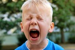 Kleiner Junge schreit stockfoto