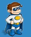Kleiner Junge Superheld stock abbildung
