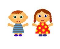 Kleiner Junge und Mädchen vektor abbildung