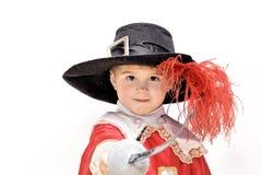 Kleiner kämpfender Musketier. Lizenzfreies Stockbild