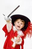 Kleiner kämpfender Musketier. Lizenzfreies Stockfoto