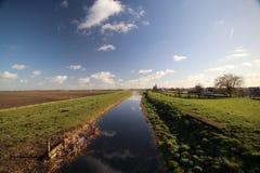 kleiner Kanal in Waddinxveen und in Moerkapelle Stockbilder
