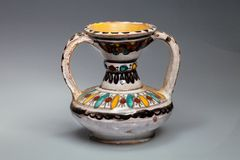 Kleiner keramischer Vase Tunesien Stockbilder