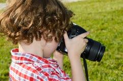Kleiner Kinderphotograph Lizenzfreie Stockbilder