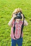 Kleiner Kinderphotograph Stockfotografie