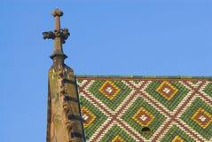 Kleiner Kontrollturm auf dem Basel Munster Stockfotos