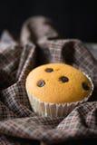 Kleiner Kuchen auf Serviettenhintergrund Lizenzfreie Stockbilder
