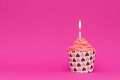 Kleiner Kuchen der rosa valentineÂs Tages Lizenzfreies Stockbild