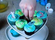 Kleiner Kuchen, der Show kocht Lizenzfreie Stockfotos