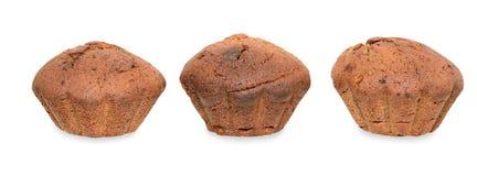 Kleiner Kuchen drei auf Weiß Stockfotografie
