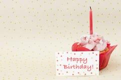 Kleiner Kuchen für Geburtstag stockfotografie