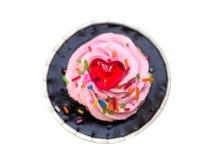Kleiner Kuchen lokalisiert auf weißem Hintergrund Stockbild