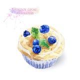 Kleiner Kuchen mit Blaubeeren Lizenzfreies Stockfoto