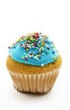 Kleiner Kuchen mit blauer Creme Lizenzfreie Stockbilder