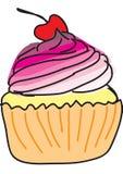 Kleiner Kuchen mit Kirsche Stockbild