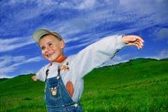 Kleiner Landwirt Stockbild
