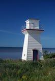Kleiner Leuchtturm und blauer Himmel Lizenzfreie Stockfotografie
