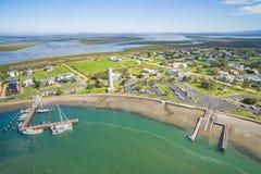 Kleiner ländlicher Fischereihafen in Australien Lizenzfreie Stockfotos