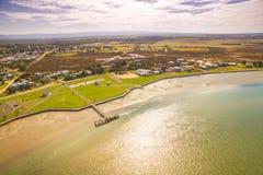 Kleiner ländlicher Fischereihafen in Australien Stockbilder