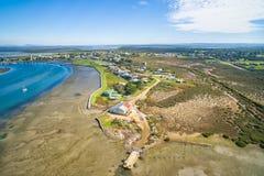 Kleiner ländlicher Fischereihafen in Australien Stockfotografie