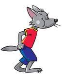 Kleiner lustiger Wolf Stockfotografie