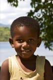 kleiner Mann im Gelb Lizenzfreies Stockfoto