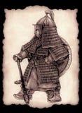 Kleiner mongolischer Kommandant stock abbildung