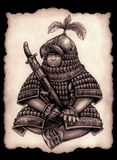 Kleiner mongolischer Kriegsherr Stockfotos