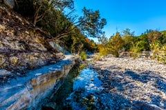 Kleiner Nebenfluss oder Fluss in Texas lizenzfreie stockfotos