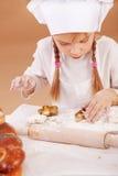 Kleiner netter Bäcker Stockfoto